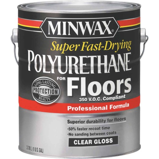Minwax 1 Gallon Gloss VOC Fast Drying Polyurethane For Floor