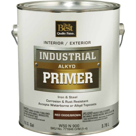 Do it Best Alkyd Industrial Primer, Red Oxide/Brown, 1 Gal.