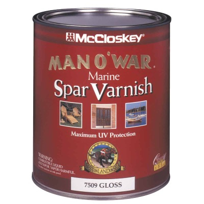 McCloskey Man O'War Gloss Spar Marine Interior & Exterior Varnish, Quart