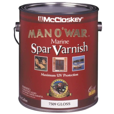 McCloskey Man O'War Gloss Spar Marine Interior & Exterior Varnish, Gallon