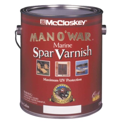 McCloskey Man O'War Satin Marine Interior & Exterior Varnish, Gallon