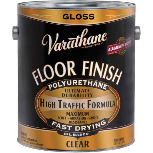 Varathane Premium Oil-Based Clear Gloss Floor Finish, Gallon