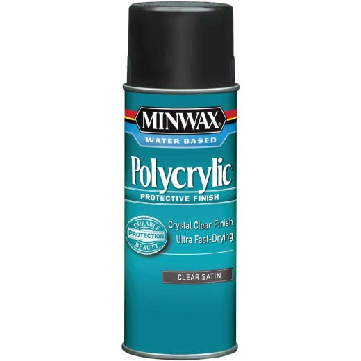 Minwax Satin Polycrylic Spray Protective Finish Spray Varnish, 11.5 Oz.