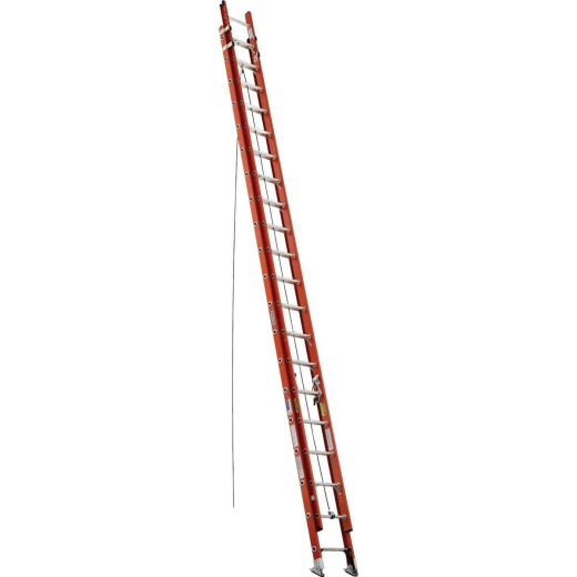 Werner 40 Ft. Fiberglass Extension Ladder with 300 Lb. Load Capacity Type IA Duty Rating