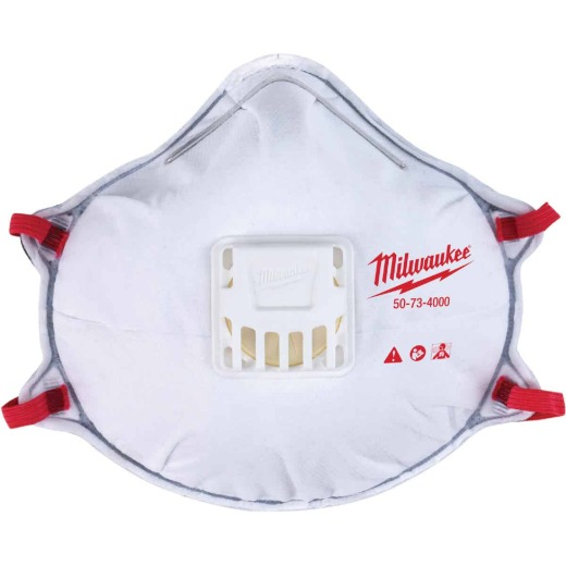 Milwaukee Disposable N95 Valved Respirator with Gasket