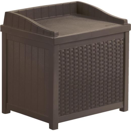 Suncast Java Resin Wicker Storage Bench