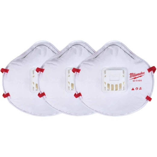Milwaukee Disposable N95 Valved Respirator (3-Pack)