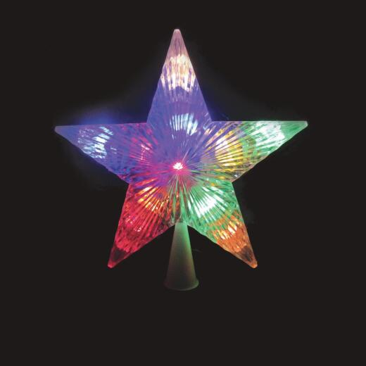 J Hofert Dual Color 9 In. Star LED Christmas Tree Topper