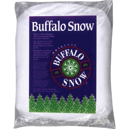Buffalo Snow Polyester 10 Oz. Artificial Snow Fluff