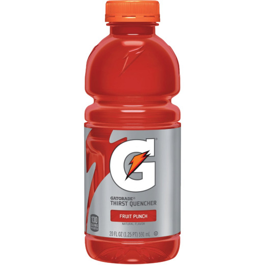 Gatorade 20 Oz. Fruit Punch Wide Mouth Thirst Quencher Drink (24-Pack)