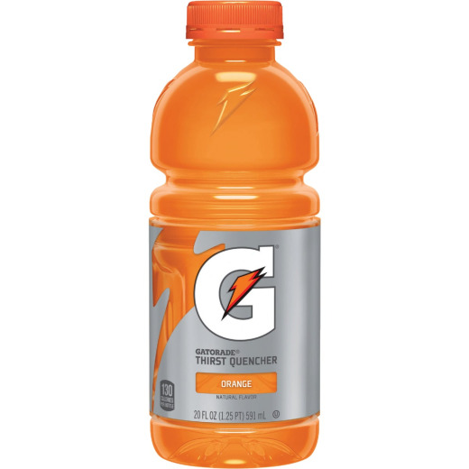 Gatorade 20 Oz. Orange Wide Mouth Thirst Quencher Drink (24-Pack)