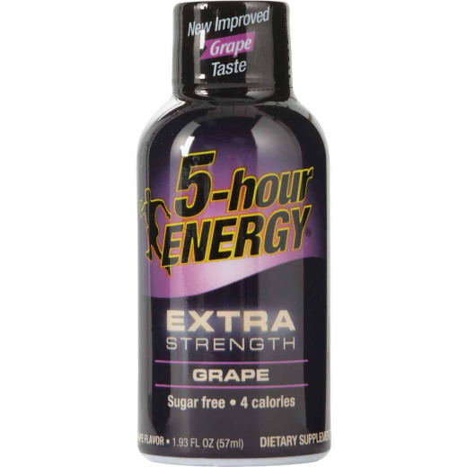 5 Hour Energy 1.93 Oz. Extra-Strength Grape Flavor Energy Drink